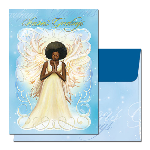 Seasons Greetings Angel African American Christmas Cards