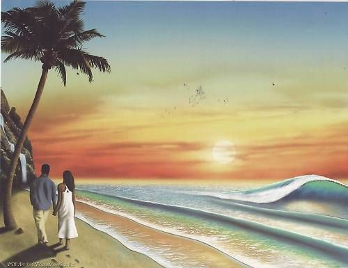 Couple on the Beach 2 First Name Origin Print