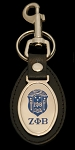 Zeta Phi Beta Leather Key Chain