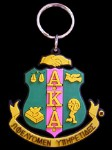 Alpha Kappa Alpha Greek Shield PVC Keychain