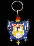 Sigma Gamma Rho Greek Shield PVC Keychain