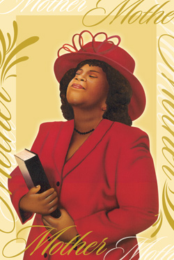 Lady In Red - African American Mother's Day Card