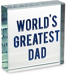 Worlds Greatest Dad Plaque