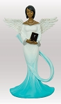 Sash Angel Figurine Cyan