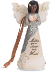 Mother Ebony Angel Ornament Figurine