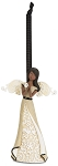 Ebony Angel Praying Ornament