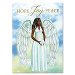 Hope Joy Peace Angel African American Christmas Cards