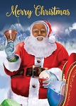 Merry Christmas Santa African American Christmas Cards