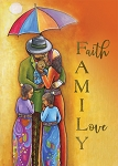 Faith Family Love African American Christmas Cards