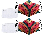 Sunset Stripes Reusable Face Masks (Set of 2)