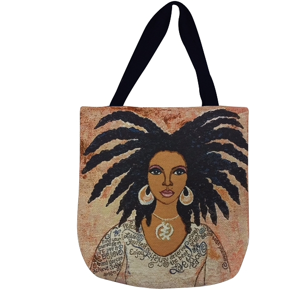Nubian Queen Talk To Me Tote Bag