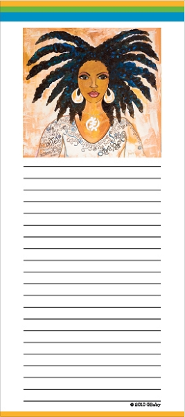 Nubian Girl Magnetic Note Pad