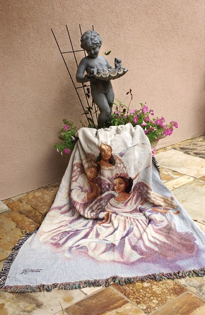 Angelic Trio - African American Tapestry Throw
