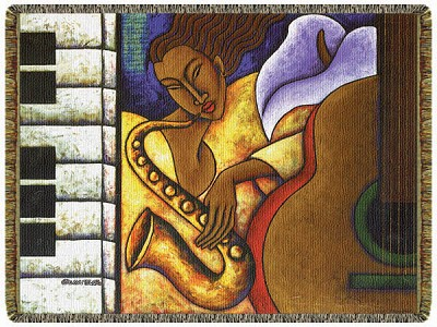 Night Groove African American Tapestry Throw