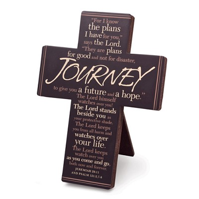 Journey - Words of Inspiration Cross