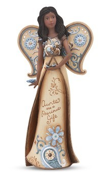 Aunt Ebony Angel with Butterflies Figurine