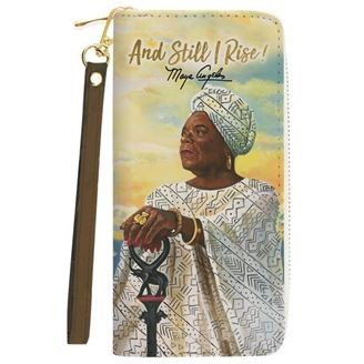 And Still I Rise Maya Angelou Long Clutch Wallet