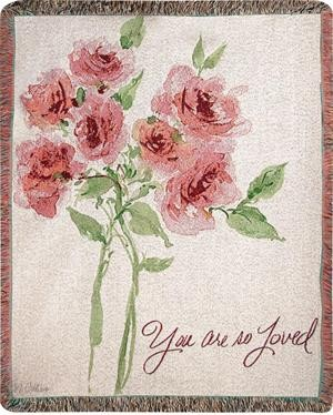 You Are So Loved Tapestry Throw