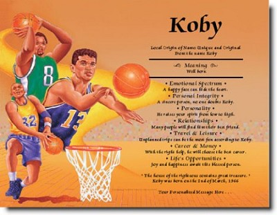 Ethnic Boy's Basketball-First Name Origin Print