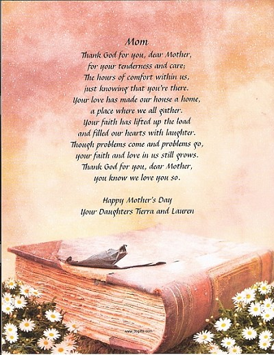 Thank God For You Mom - Personalized Poem